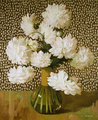 Painting - Dots For The Dahlias by Robert Holden