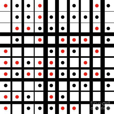Dots And Lines Digital Art - Dots In A Grid by Gaspar Avila