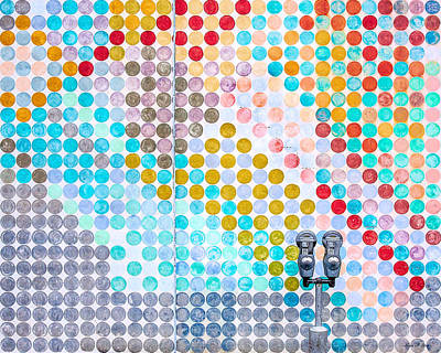 Urban Art Photograph - Dots, Many Colored Dots by Todd Klassy