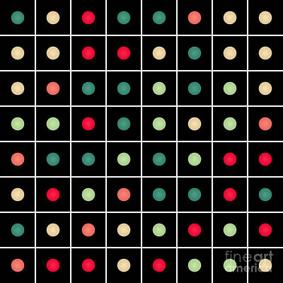 Algorithmic Digital Art - Dotted Grid by Gaspar Avila