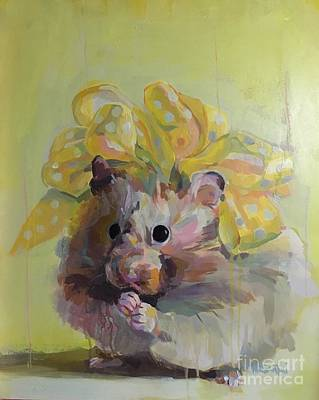 Hamster Painting - Dottie by Kimberly Santini