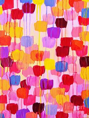 Julia Child Painting - Dotty In Pink by Julia Di Sano