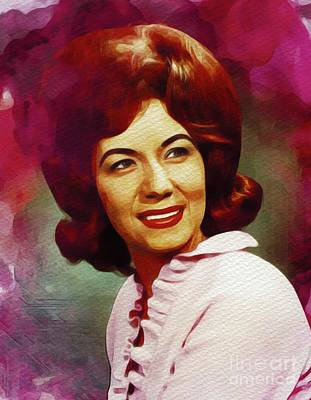 Music Paintings - Dotty West, Country Music Legend by Esoterica Art Agency