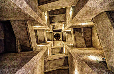Photograph - Douaumont Tower Staircase From The Bottom by Weston Westmoreland