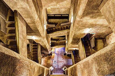 Photograph - Douaumont Tower Staircase From The Top by Weston Westmoreland