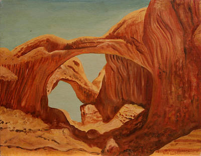 Painting - Doubl Arch by Rosencruz  Sumera