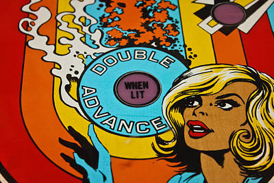 Double Advance - Pinball Art Print by Colleen Kammerer