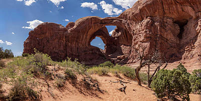 Photograph - Double Arch Arches National Park Gigapan by John McGraw