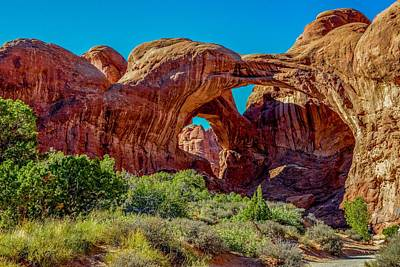 Photograph - Double Arch, Arches National Park by Marilyn Burton