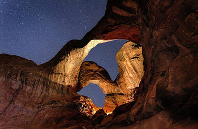 Photograph - Double Arch At Night by Michael Ash