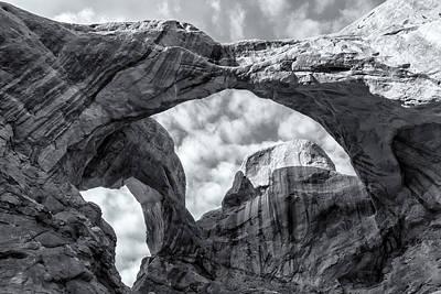 Photograph - Double Arch Bw by Jonathan Nguyen