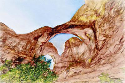 Double Arch Art Print by John K Woodruff
