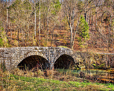 Photograph - Double Arch Stone Bridge by TnBackroadsPhotos