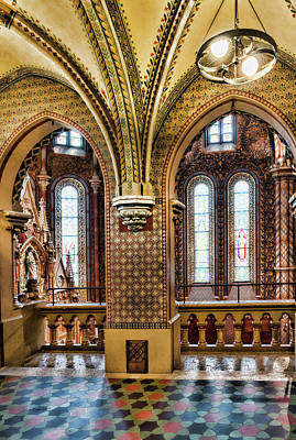 Photograph - Double Arches In Church by Sharon Popek