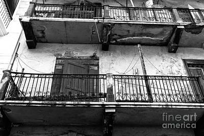Double Balconies In Panama City Mono Art Print by John Rizzuto