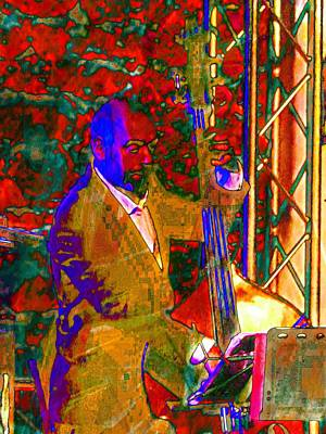 Photograph - Double Bass Player by Dorothy Berry-Lound