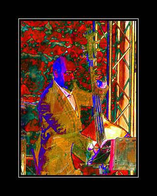 Photograph - Double Bass Player With Black Border by Dorothy Berry-Lound