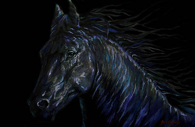Painting - Double Black Beauty by J- J- Espinoza