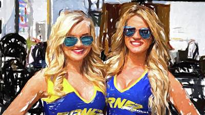 Photograph - Double Blondes At The Track by Alice Gipson