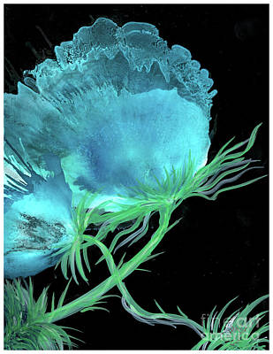 Painting - Double Blue Flower by Cathlyn Driscoll