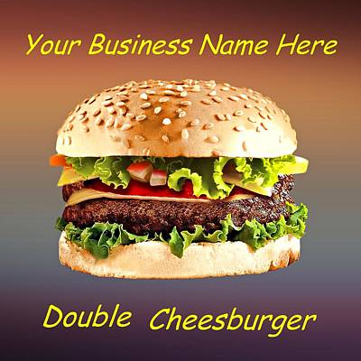 Sandwich Digital Art - Double Cheeseburger Customized  by Movie Poster Prints