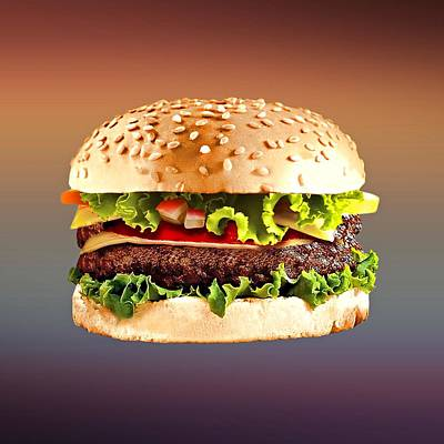 Sandwich Digital Art - Double Cheeseburger  by Movie Poster Prints