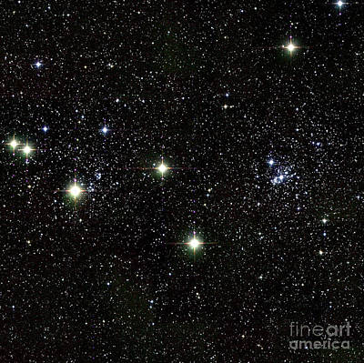 Double Cluster, Ngc 869 And Ngc 884 Art Print by Science Source