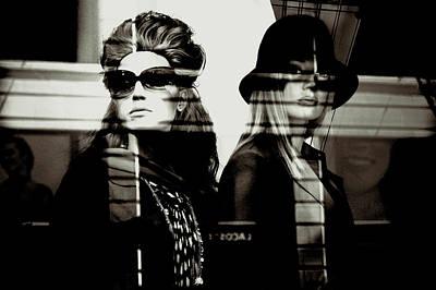 Black Photograph - Double Cross by Michael Evans