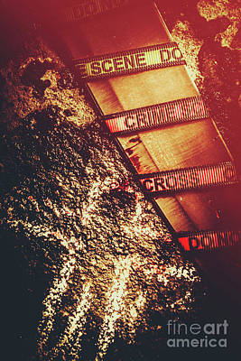 Siren Photograph - Double Crossing Crime Scene Investigation by Jorgo Photography - Wall Art Gallery