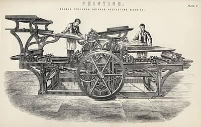 Cylinders Drawing - Double Cylinder Gripper Perfecting by Vintage Design Pics