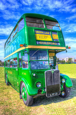Photograph - Double Decker Bus by David Pyatt
