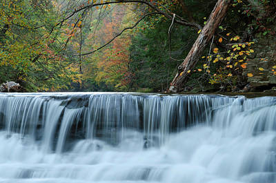 Photograph - Double Decker Falls by Ann Bridges