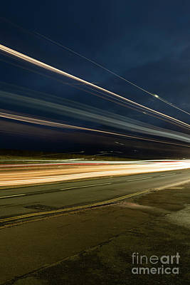 Photograph - Double Decker Light Streaks by Clayton Bastiani