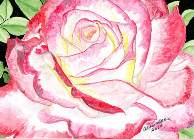 Roses Painting - Double Delight by Alexis Grone