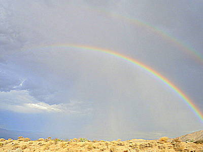 Photograph - Double Desert Rainbow by Karen J Shine