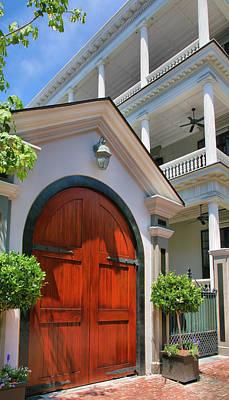 Double Door And Historic Home Art Print