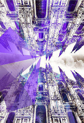 Mixed Media - Double Duomo by Michelle Dallocchio