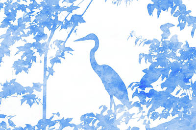 Jeffery Johnson Photograph - Double Exposure Of Blue Heron by Photo Captures by Jeffery