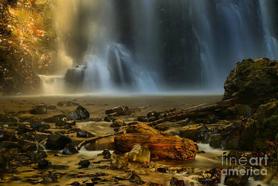 Photograph - Double Falls Ghostly Landscape by Adam Jewell