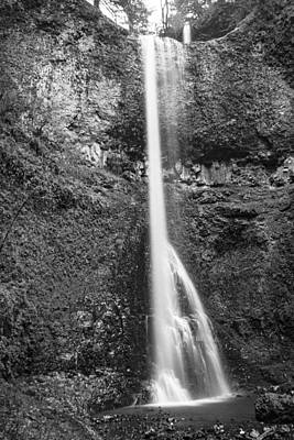 Photograph - Double Falls In Black And White  by John McGraw