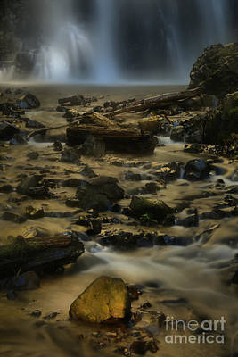 Double Falls Soft Light Art Print