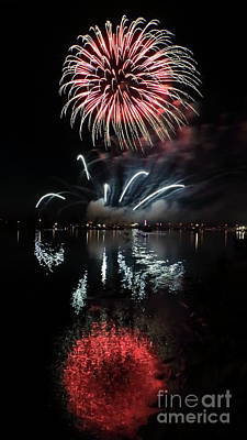Photograph - Double Firework by Erick Schmidt