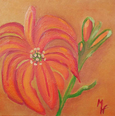 Painting - Double Headed Orange Day Lily by Margaret Harmon