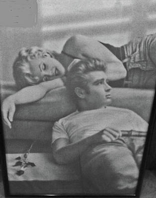 Marilyn Monroe And James Dean Photograph - Double Icons by Jay Milo