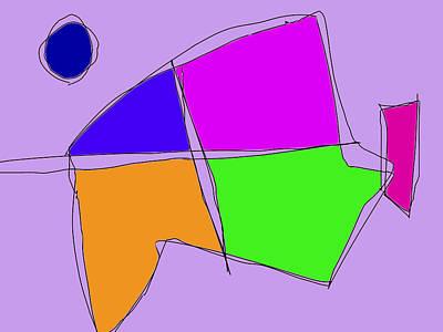 Double Lines Light Purple Art Print by Masaaki Kimura