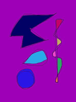 Double Lines Purple Art Print by Masaaki Kimura