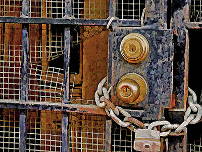 Mixed Media - Double Locked by Lynda Lehmann