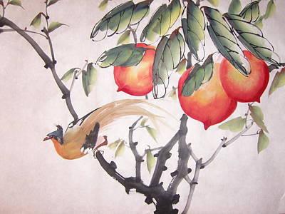 Pear Tree Mixed Media - Double Longivity by Anita Lau