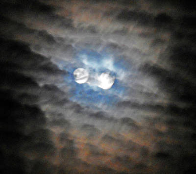 Photograph - Double Moon by Ron Kandt