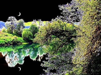 Double Moon Art Print